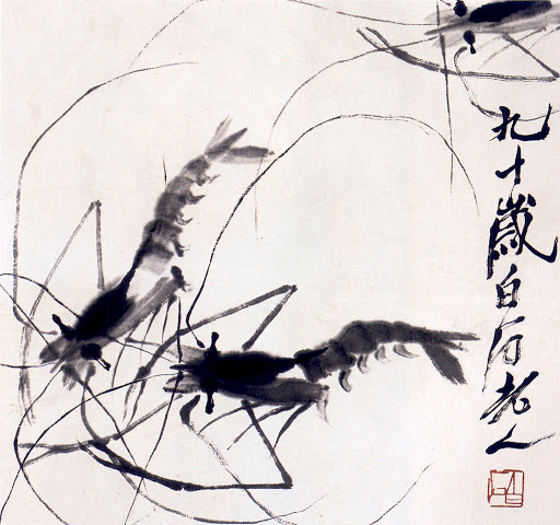 Qi Bai Shi - Art Works - Chinese Paintings - Shrimps