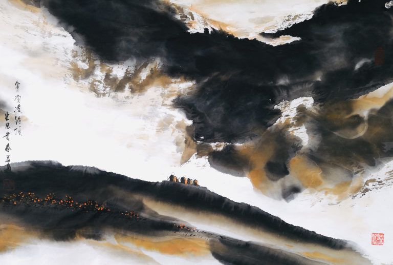 Shi Zhong Gui - Art Works - Chinese Paintings - Sunset